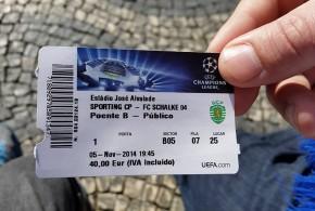 Mit dem S04 zur CL nach Lissabon.