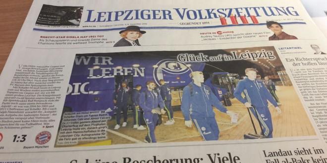 Auswärtsspiel in Leipzig – Schwalben bei eisigem Wetter gesichtet