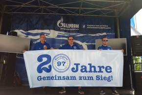 Fanclubehrung auf dem Schalker Familien-Tag